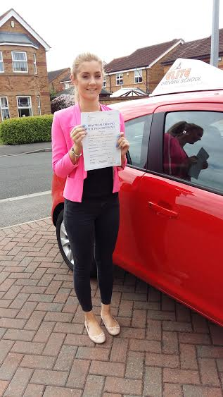This is Melissa Craft who took her driving lessons in York
