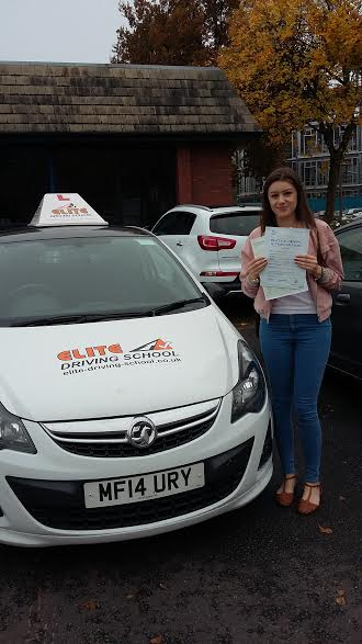 This is Samantha Pickering who took her driving lessons in York