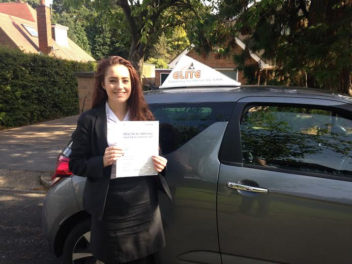 This is Abi Worrell who took her driving lessons in York