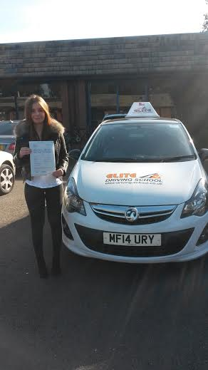 This is Amber Stafford who took her driving lessons in York