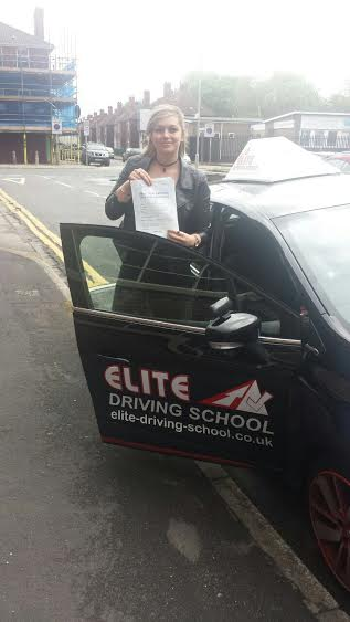 This is Emily Thompson who took her driving lessons in Hull