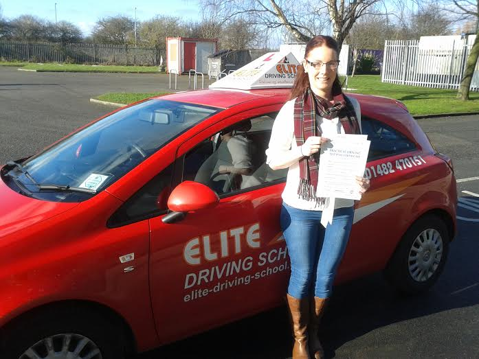 This is Gemma Layton who took her driving lessons in Hull