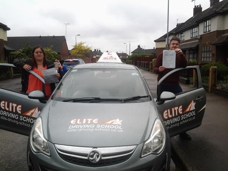 This is Gemma Thompson and Bradley Stead who took their driving lessons in Hull