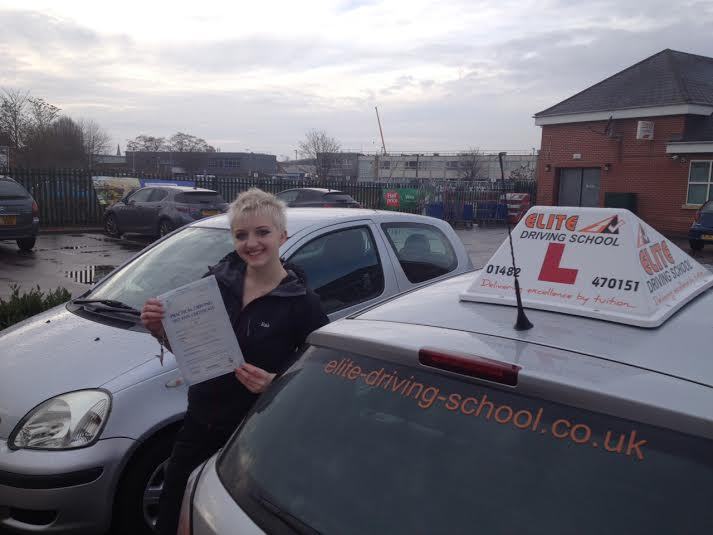 This is Holly Miller who took her driving lessons in Hull