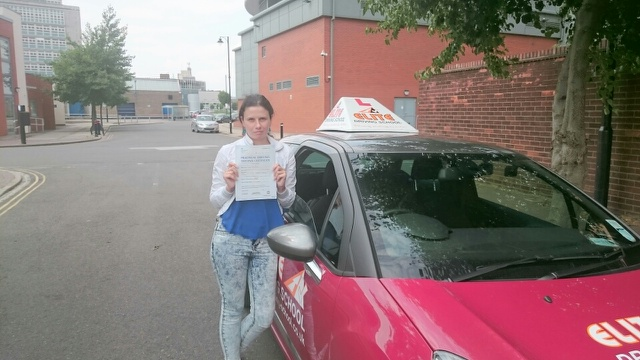 This is Irina Jakovenko who took her driving lessons in York