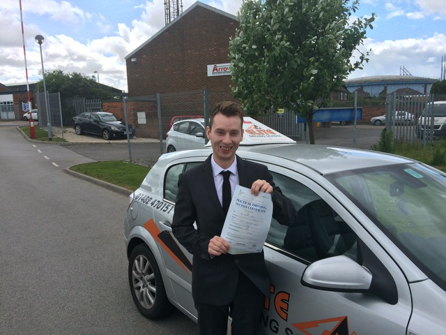 This is Kai Larkin who took his driving lessons in York
