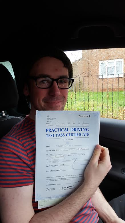 This is Mark McCloud who took his driving lessons in York