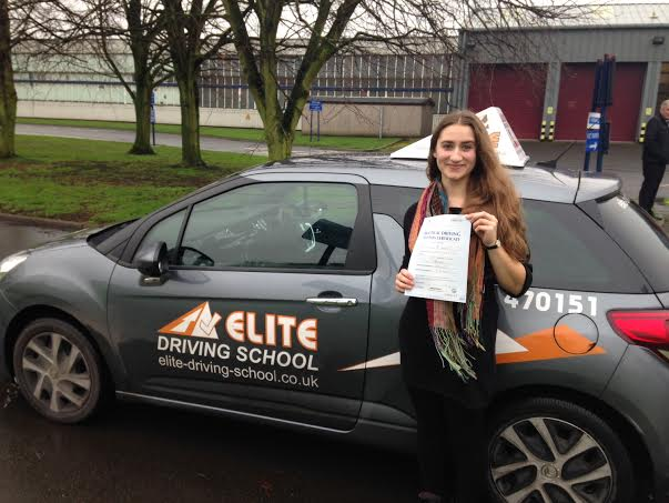 This is Rachel Barnes who took her driving lessons in Hull