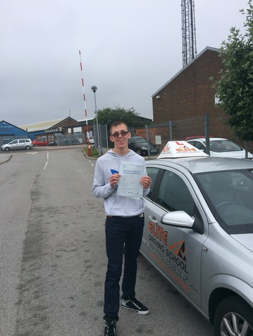 This is Steven Cracknell who took his driving lessons in York