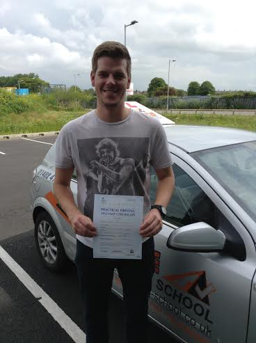This is Chris Ellerington who took his driving lessons in Hull