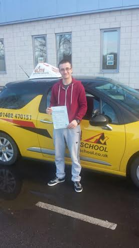 This is Connor Fowler who took his driving lessons in York