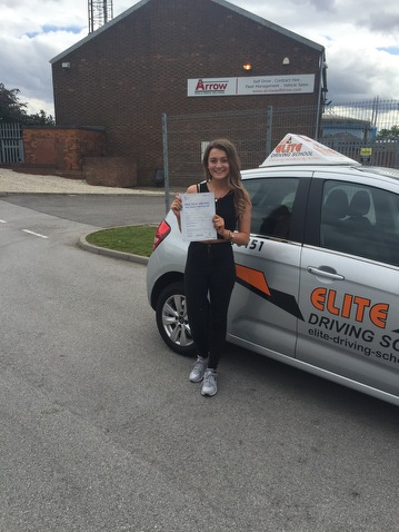 This is Courtney Moxon who took her driving lessons in York