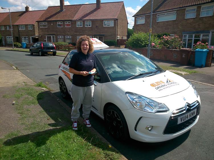 This is Holly Knott who took her driving lessons in Hull
