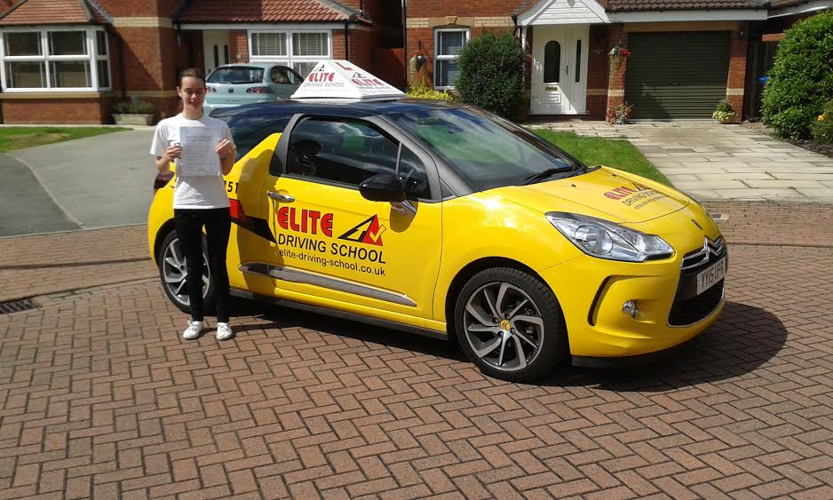 This is Joanne Cook who took her driving lessons in Hull