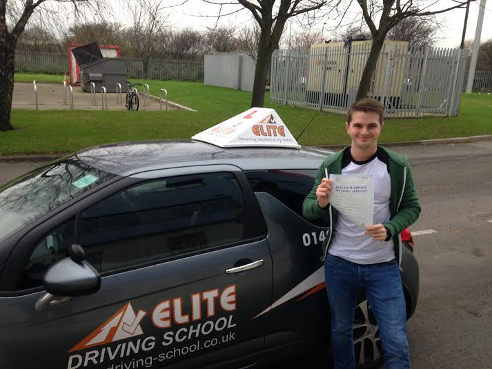This is Lewis Jones who took his driving lessons in York