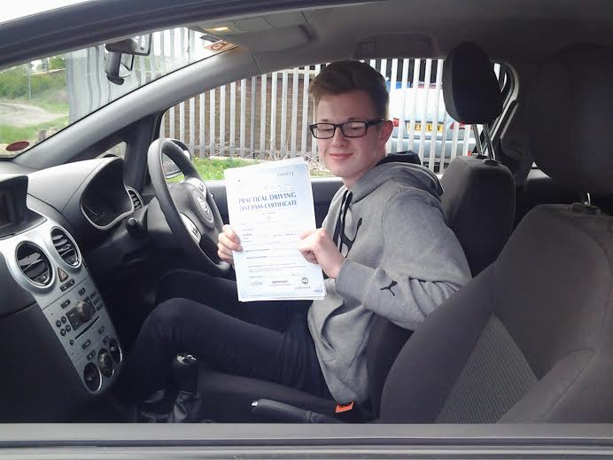 This is Lewis McKee who took his driving lessons in York