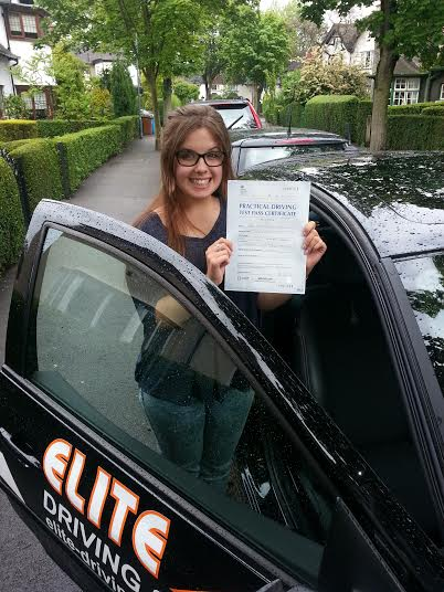 This is Louise Cassidy who took driving lessons in Hull