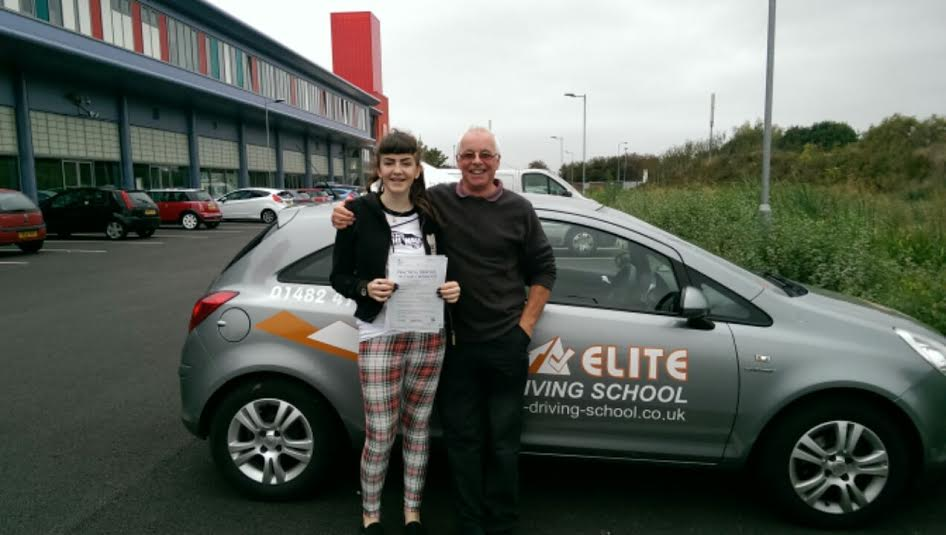 This is Meaghan Garner who took her driving lessons in York