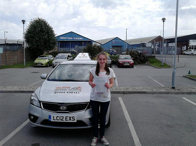 This is Megan Drewery who took her driving lessons in York