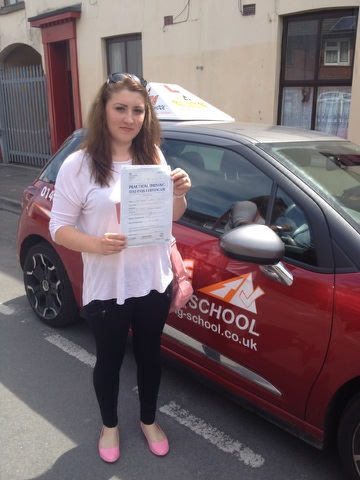 This is Miheala Merlusca who took her driving lessons in York