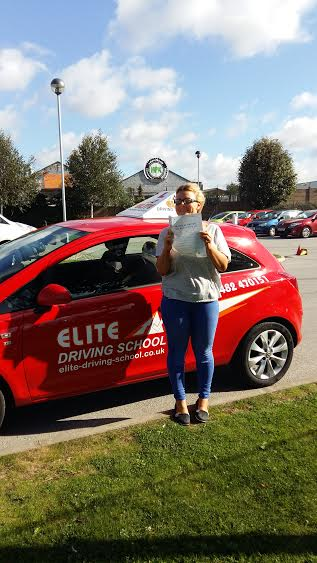 This is Natasha Fairburn who took her driving lessons in Hull