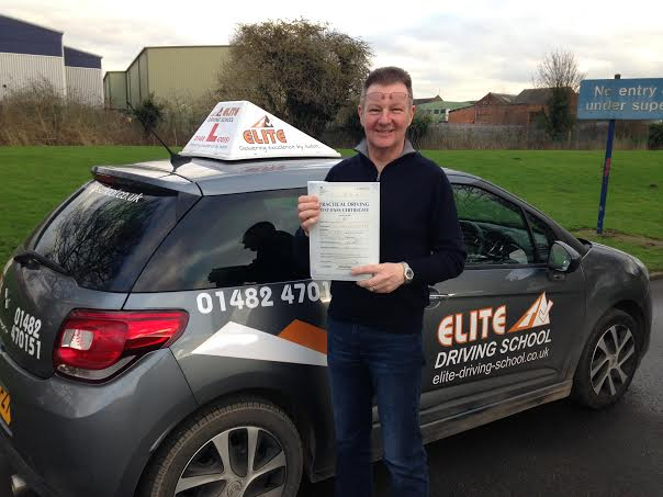This is Neil Atkinson who took his driving lessons in Hull