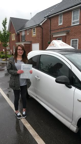 This is Sarah Fallowfield who took her driving lessons in York
