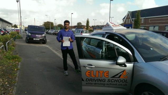 This is Shashi Dodle who took his driving lessons in York