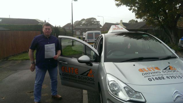 This is Paul Obernay who took his driving lessons in Hull