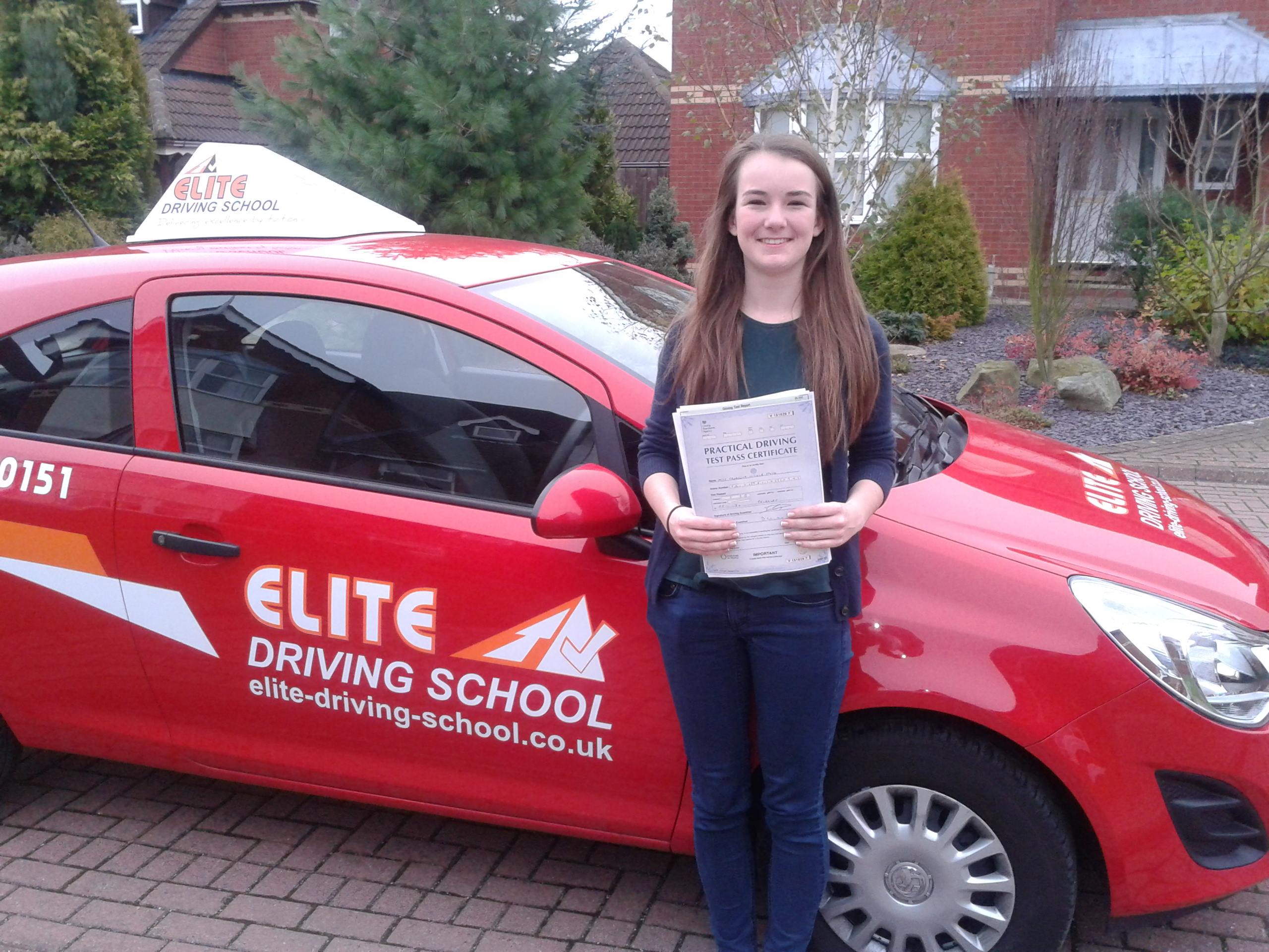 This is Georgina Smith who took her driving lessons in Hull