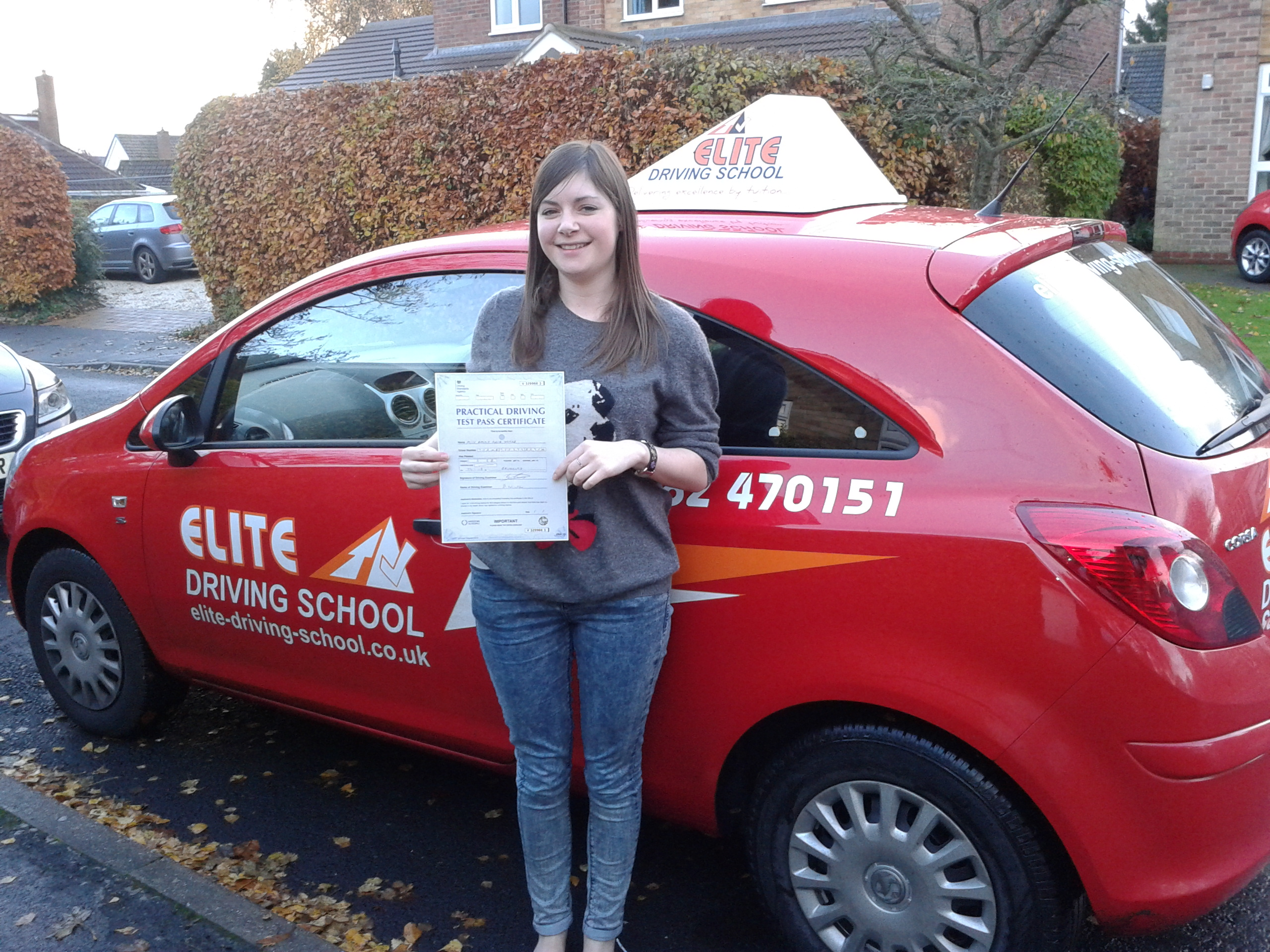 This is Emma Yorke who took her driving lessons in Hull
