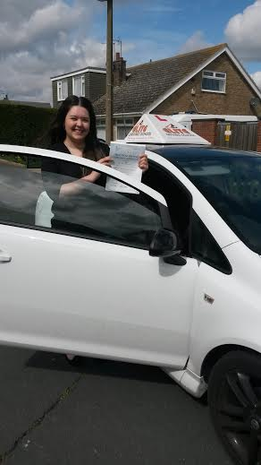 This is Samantha Norton who took her driving lessons in York
