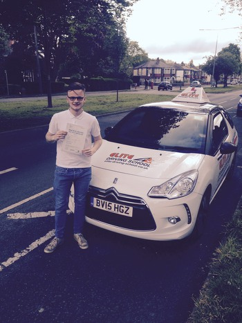 This is Jack Wallis who took his driving lessons in Hull
