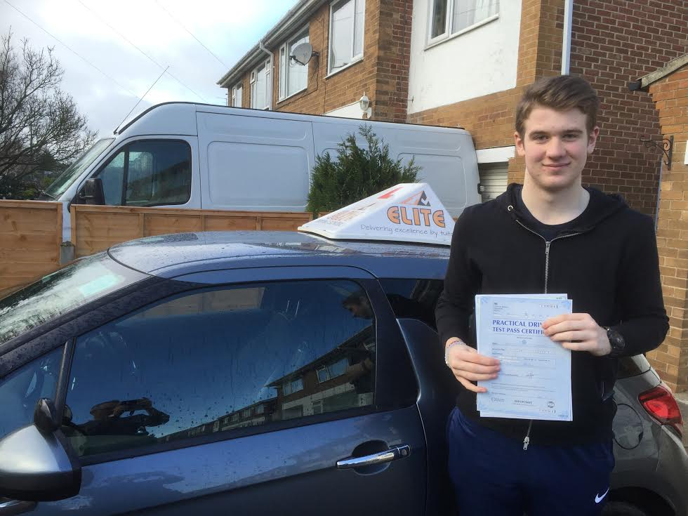 This is Jamie Garner who took his driving lessons in Hull