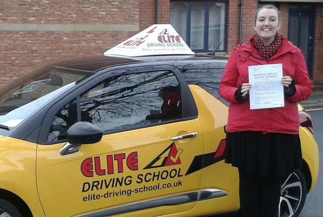 This is Emily Blenkin who took her driving lessons in Hull