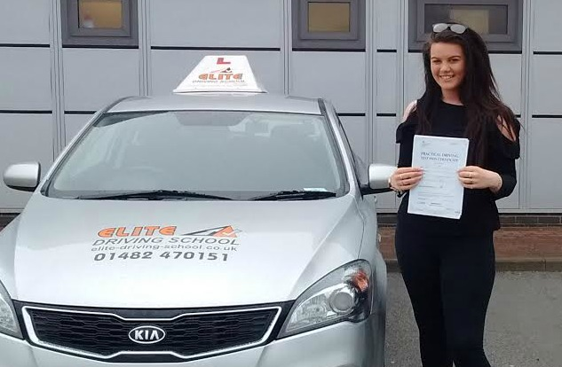 This is Millie Brady who took her driving lessons in Hull