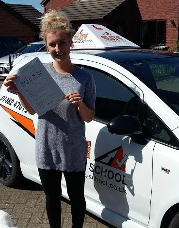 This is Amy Storey who took her driving lessons in Hull