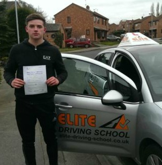 This is Reece Green who took his driving lessons in Hull