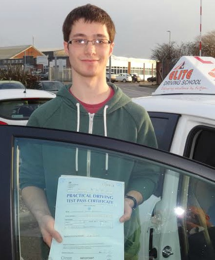 This is Chris Banyard who took his driving lessons in Hull