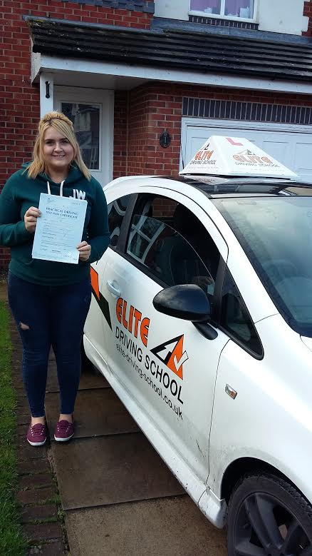 This is Claudia Cartwright who took her driving lessons in Hull