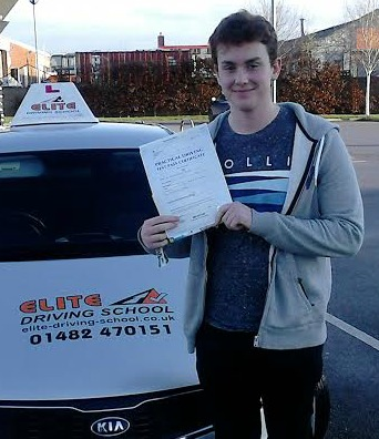 This is Adam Riches who took his driving lessons in York