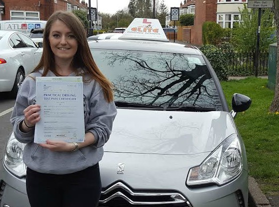 This is Amy Shearer who took her driving lessons in York