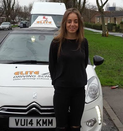 This is Dana Kent who took her driving lessons in York