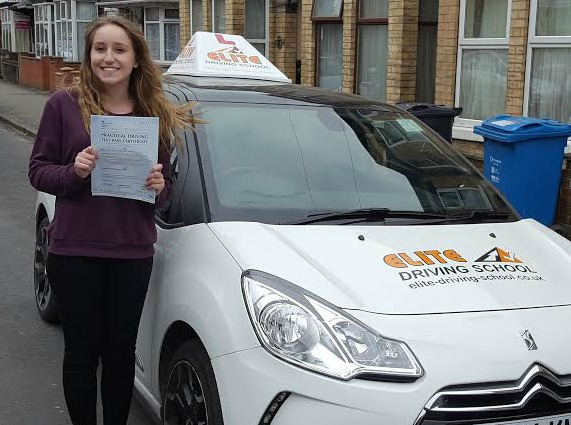 This is Emily Mason who took her driving lessons in Hull