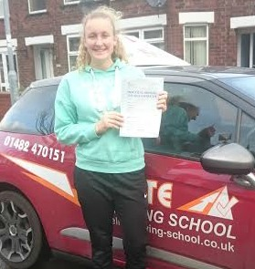 This is Emily Taylor who took her driving lessons in Hull