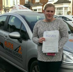 This is Emma Stephenson who took her driving lessons in York