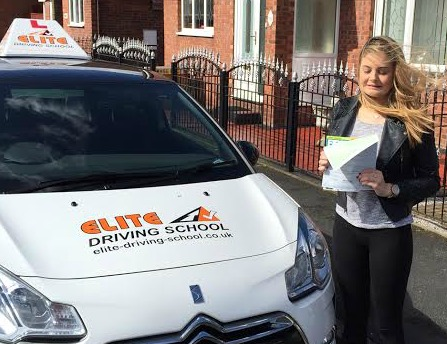 This is Evie Armitage who took her driving lessons in York
