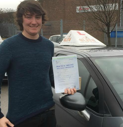 This is Kieran McRae who took his driving lessons in York