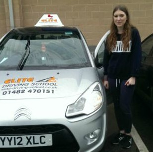 This is Lauryn Hall who took her driving lessons in Hull