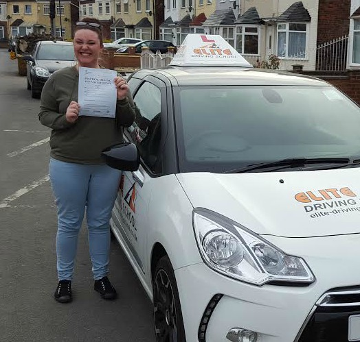 This is Marnie Lord who took her driving lessons in York